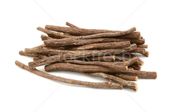 Zdjęcia stock: Lukrecja · korzeń · odizolowany · biały