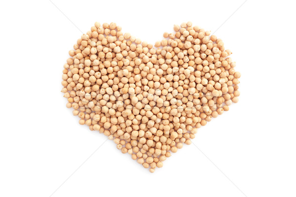 Dried chick peas in a heart shape Stock photo © sarahdoow