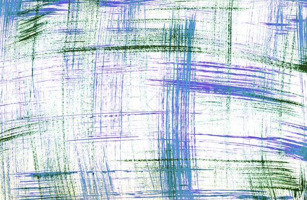 Stock photo: Blue and green sketchy painted lines