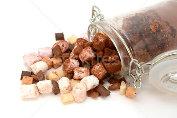 Marshmallows, fudge, chocolate, fudge and cocoa Stock photo © sarahdoow