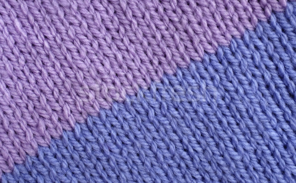 Stocking stitch knitting in lilac and blue Stock photo © sarahdoow