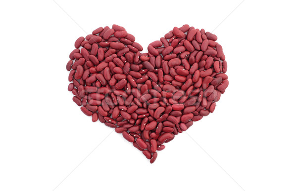 Red kidney beans in a heart shape Stock photo © sarahdoow