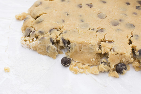 Close-up of crumbly chocolate chip cookie dough Stock photo © sarahdoow