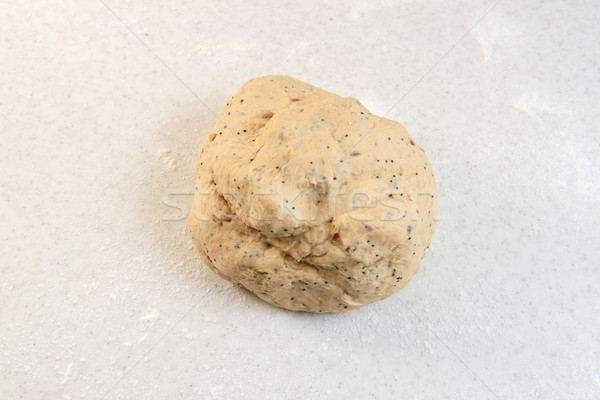 Smooth ball of freshly-kneaded bread dough Stock photo © sarahdoow