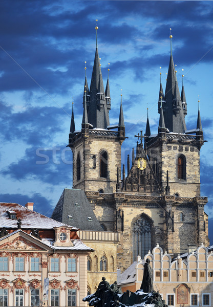 Church of our lady before Tyn, Prague Stock photo © Sarkao