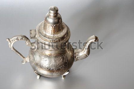 Antichi argento brocca dettaglio tè pot Foto d'archivio © Sarkao
