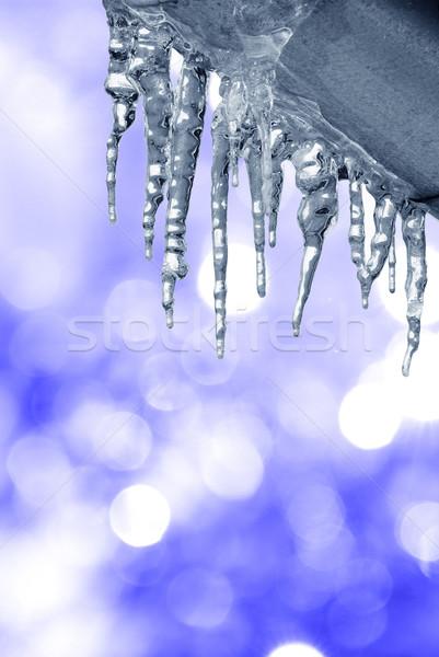 Water Blauw lichten kleur christmas weer Stockfoto © Sarkao