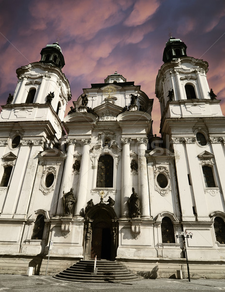 Saint Nicholas Church in Prague, Czech republic Stock photo © Sarkao