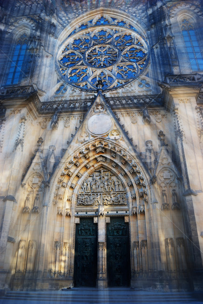 Saint Vitus cathedral, Prague Stock photo © Sarkao