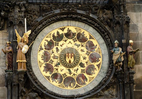 Prague astronomical clock Stock photo © Sarkao