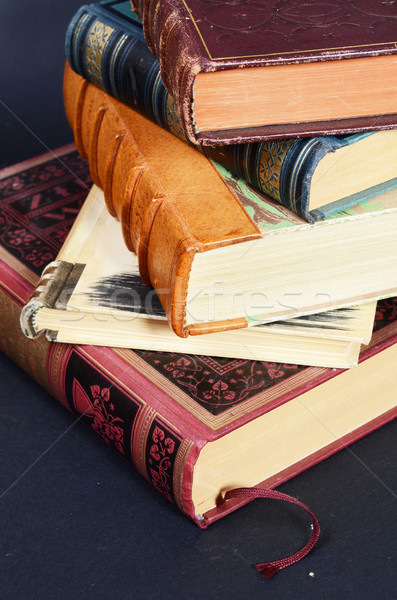 stack of antique books Stock photo © Sarkao