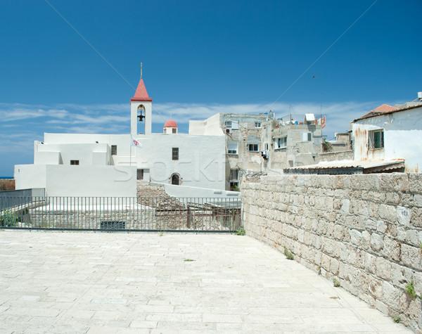 Yunan ortodoks kilise İsrail taş mimari Stok fotoğraf © Sarkao