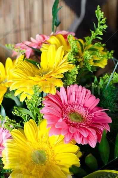 букет цветок зеленый подарок розовый красивой Сток-фото © Sarkao