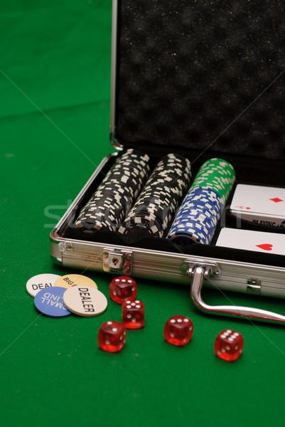 покер случае играть чемодан игорный чипа Сток-фото © Sarkao