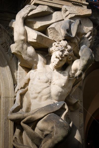 Barocco statua arte castello pietra scultura Foto d'archivio © Sarkao