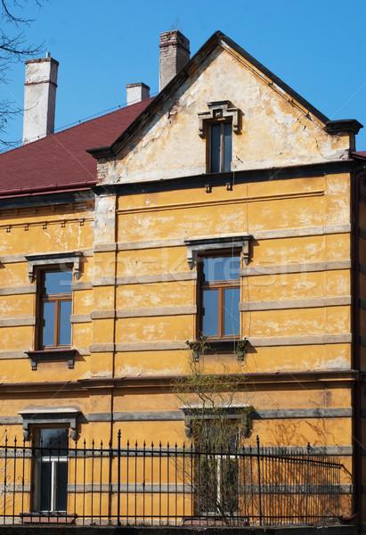 Arquitetura histórica Praga casa arquitetura Foto stock © Sarkao