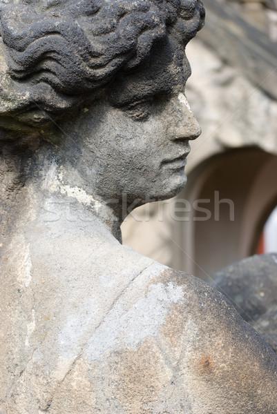 Barocco statua faccia castello pietra profilo Foto d'archivio © Sarkao