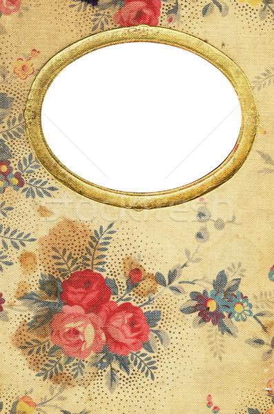 антикварная цветочный дневнике охватывать цветок книга Сток-фото © Sarkao
