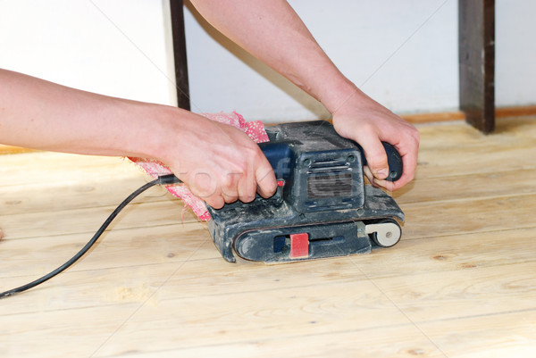 древесины полу инструментом оборудование процесс Сток-фото © Sarkao
