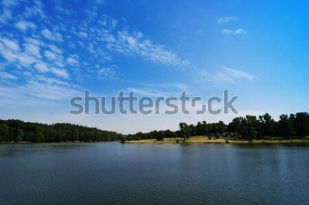 Praag wolken bos natuur landschap Blauw Stockfoto © Sarkao