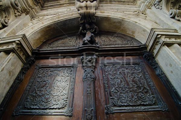 Arquitectura histórica Budapest madera iglesia piedra arquitectura Foto stock © Sarkao