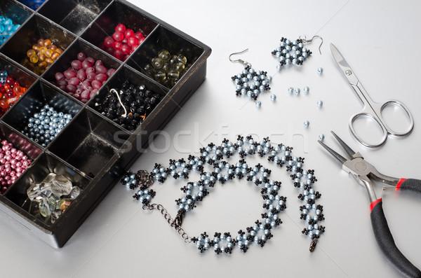 ékszerek készít doboz zöld piros fekete Stock fotó © Sarkao