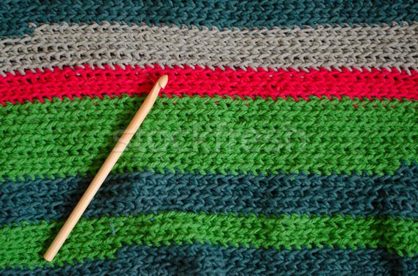 Crochê estrutura bambu cores lã fio Foto stock © Sarkao