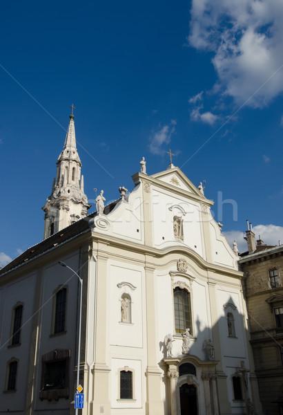 Chiesa Budapest cielo finestra blu architettura Foto d'archivio © Sarkao