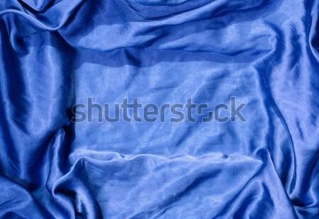 атласных синий ткань шелковые Сток-фото © Sarkao