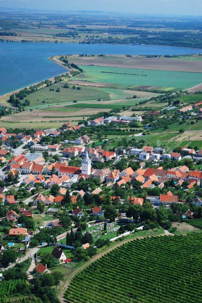 Сток-фото: фотография · пейзаж · юг · Чешская · республика · небе · природы
