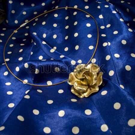 antique brass flower necklace Stock photo © Sarkao