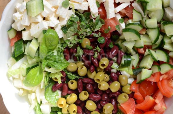 растительное Салат здоровья зеленый приготовления свежие Сток-фото © Sarkao