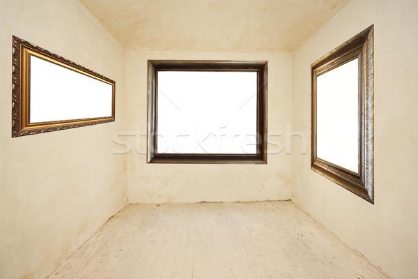 Lege kamer foto frames frame kamer architectuur Stockfoto © Sarkao