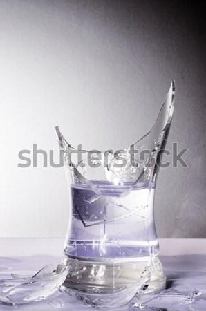 Törött üveg üveg ital buborékok friss baleset Stock fotó © Sarkao