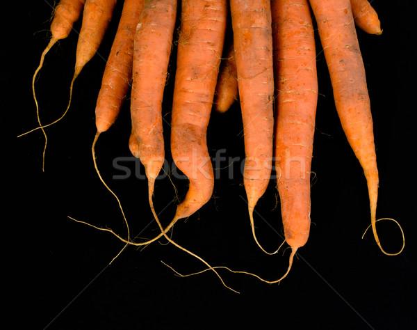 Cenoura laranja verde fresco dieta Foto stock © Sarkao