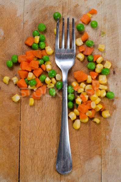 fork and veggie Stock photo © Sarkao