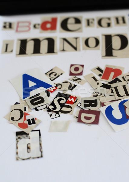 news letters alphabet concept Stock photo © Sarkao