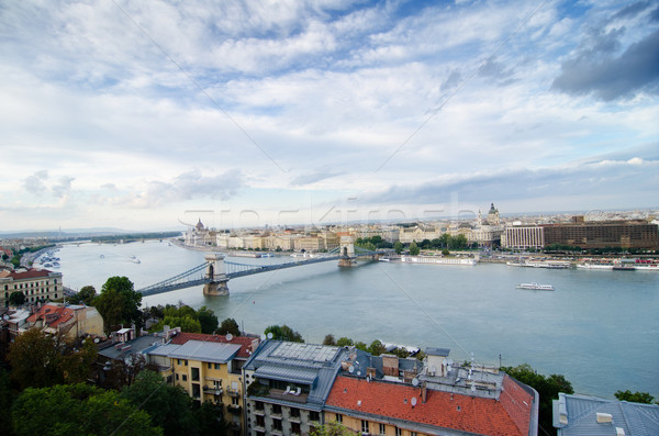 Будапешт воды облака реке домах мнение Сток-фото © Sarkao
