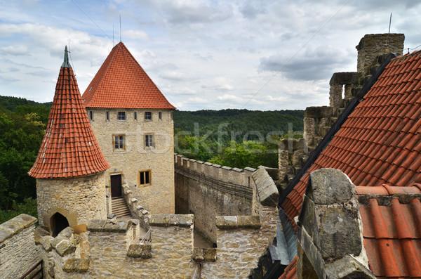 Médiévale château République tchèque bâtiment Voyage architecture Photo stock © Sarkao