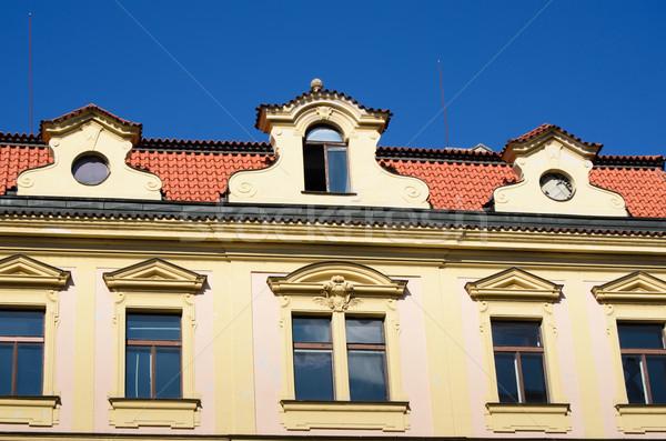 Arquitectura histórica Praga República Checa cielo edificio azul Foto stock © Sarkao