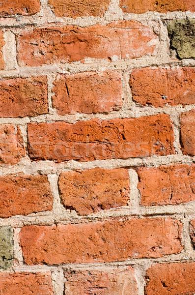 Сток-фото: кирпичная · стена · текстуры · подробность · здании · стены · красный