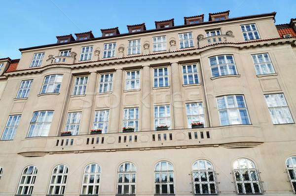 Arquitetura histórica Praga windows europa Foto stock © Sarkao