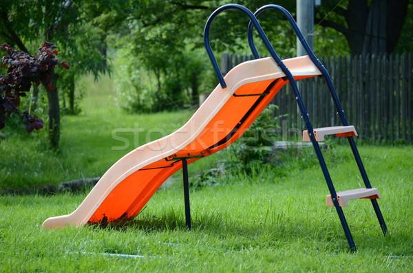Slide gras Blauw Stockfoto © Sarkao