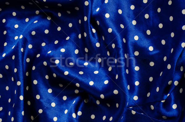 à pois bleu soie satin Photo stock © Sarkao