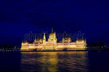 Hungarian parliament, Budapest Stock photo © Sarkao