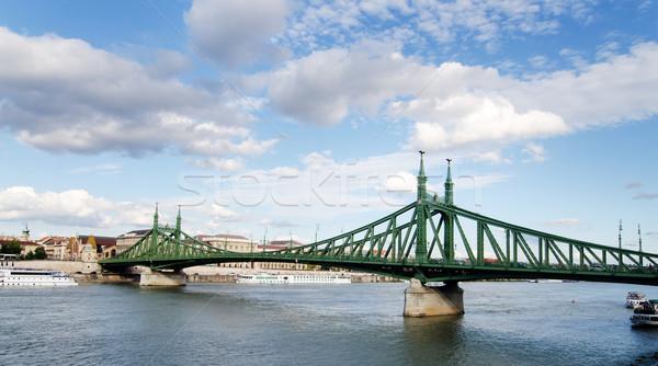Zdjęcia stock: Wolności · most · Budapeszt · Węgry · chmury · miasta