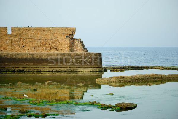 Deniz İsrail duvar doğa mavi Asya Stok fotoğraf © Sarkao