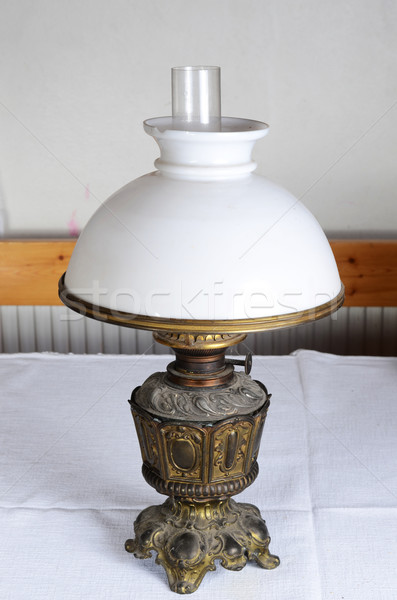 антикварная лампы стекла металл стиль роскошь Сток-фото © Sarkao