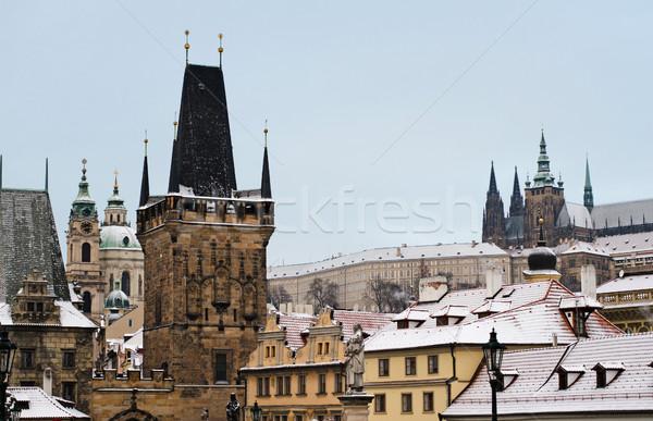 Prague in the winter Stock photo © Sarkao