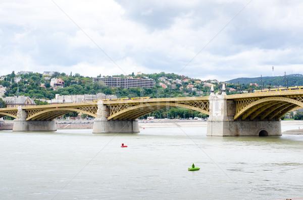Margit hid- margaret bridge in Budapest, Hungary Stock photo © Sarkao